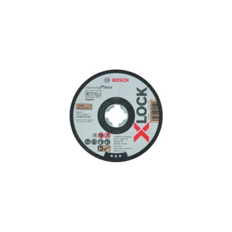 Disco Corte Inox  115X1 Mm X-Lock Standard Bosch 10 Pz