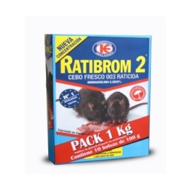 Raticida 10Bol X 100Gr Cebo Fresco Ratibrom-2 D01.370 1 Kg