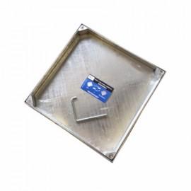 Tapa Fontanero 40X40Cm Hermetica Rellenable Acero Galv B-125 Da