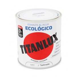Esmalte Acrilico Satinado 250 Ml Bl Al Agua Ecologico Titanlux