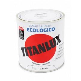 Esmalte Acrilico  Mate 250 Ml Bl Al Agua Ecologico Titanlux