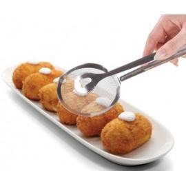 Pinza Cocina Freir Acero Pla Metaltex