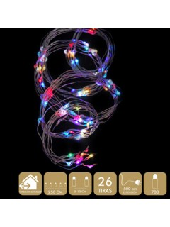 Luz Navidad Best Products Multic Microled 700 Luces