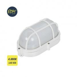 Aplique Iluminacion 9W 810Lm 4000K Ip65 Ext Edm Pl Bl Ov Rej/Plas