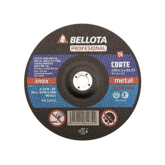 Disco Corte Metal 125X3X22 Mm Bellota