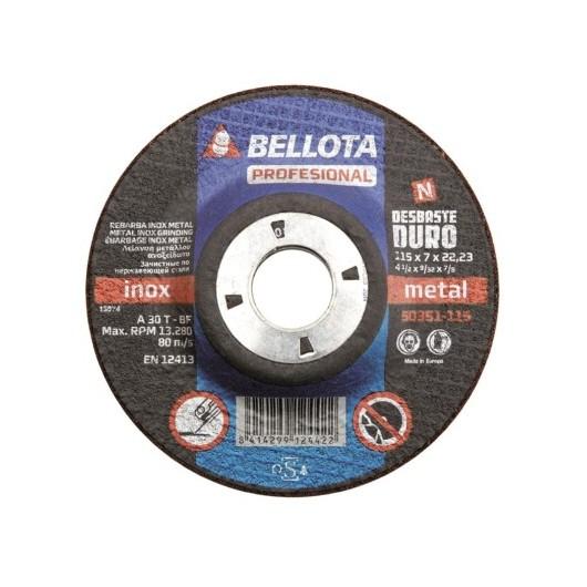 Disco Desbaste Metal 115X7X22 Mm Bellota