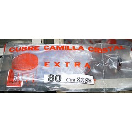 Cubre Camilla Mesa 080Cm Cristal Con Vivo Plastico