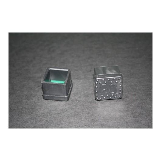 Contera Plastico Negra Cuadrada 20X20 10432