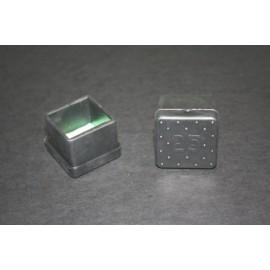 Contera Plastico Negra Cuadrada 25X25 10434