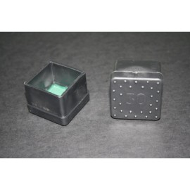 Contera Plastico Negra Cuadrada 30X30 10436