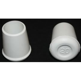 Contera Plastico Redonda Blanca 20 Mm.11520