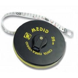 Cinta Metrica 25Mt-15,0Mm Fibra Vidrio Estuche Abs Medid