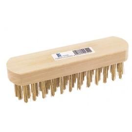 Cepillo Industrial Manual 6 Hileras Sin Mango Acero/Latonado Fecin