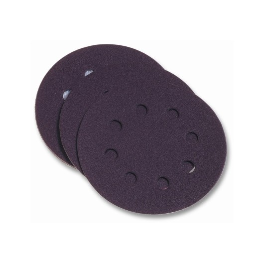 Disco Lija Papel Perforado  Velcro 125 Mm Para Lijadora  Grano 120 Pg Maxi 10 P