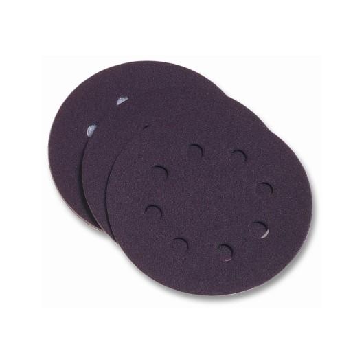 Disco Lija Papel Perforado  Velcro 125 Mm Para Lijadora  Grano 240 Pg Maxi 10 P