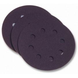 Disco Lija Papel Perforado  Velcro 125 Mm Para Lijadora  Grano 80 Pg Maxi 10 P