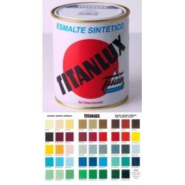Esmalte Sintetico  Brillante  375 Ml Gris/Perla Interior/Exterior  Titan Titanlux