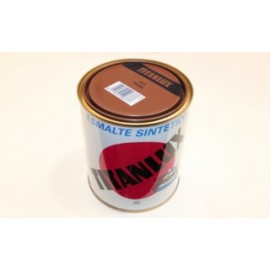 Esmalte Sintetico  Brillante  750 Ml Pardo Interior/Exterior  Titan Titanlux