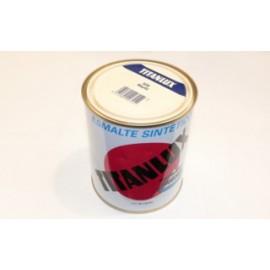 Esmalte Sintetico  Brillante  750 Ml Marfil  Interior/Exterior  Titan Titanlux