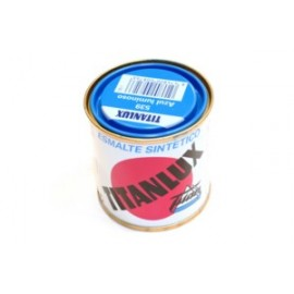 Esmalte Sintetico  Brillante  125 Ml Azul/Luminoso Interior/Exterior  Titan Titanlux
