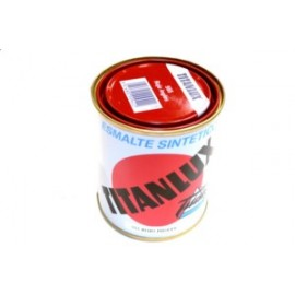 Esmalte Sintetico  Brillante  375 Ml Rojo/Ingles Interior/Exterior  Titan Titanlux