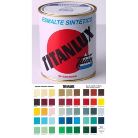 Esmalte Sintetico  Brillante  375 Ml Bermellon Interior/Exterior  Titan Titanlux