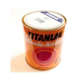 Esmalte Laca Satinado  750 Ml Blanco  Interior/Exterior  Poliuretano  Titan Titanlak