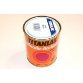 Esmalte Laca Satinado  375 Ml Blanco  Interior/Exterior  Poliuretano  Titan Titanlak