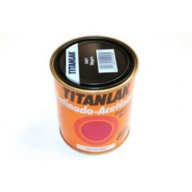Esmalte Laca Satinado  375 Ml Negro   Interior/Exterior  Poliuretano  Titan Titanlak