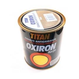 Esmalte Antioxidante Forja 750 Ml Gris Acero  Exterior Oxiron Titan