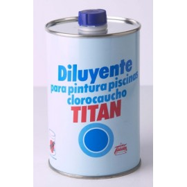 Diluyente Pintura Piscina Al Disolvente Titan 1 Lt