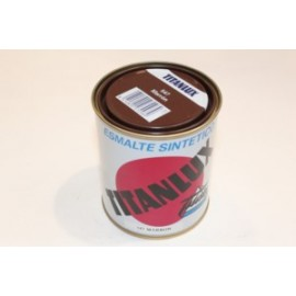 Esmalte Sintetico  Brillante  375 Ml Marron Interior/Exterior  Titan Titanlux