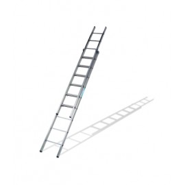 Escalera Industrial  Apoyo Extension Manual  1,95/2,95Mt 6 Peldaños Doble Aluminio Ktl