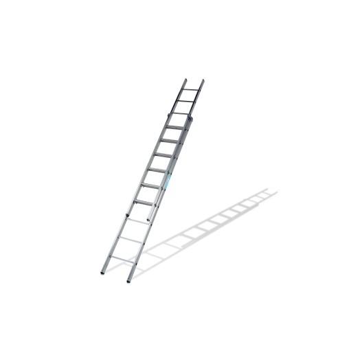 Escalera Industrial  Apoyo Extension Manual  2,77/4,57Mt 9 Peldaños Doble Aluminio Ktl