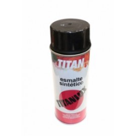 Esmalte Sintetico  Brillante  400 Ml Negro  Titanlux Titan