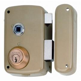 Cerradura Sobreponer 70X45Mm 5056Bhe70D Hierro Esmaltado Picaporte/Palanca Derecha Lince
