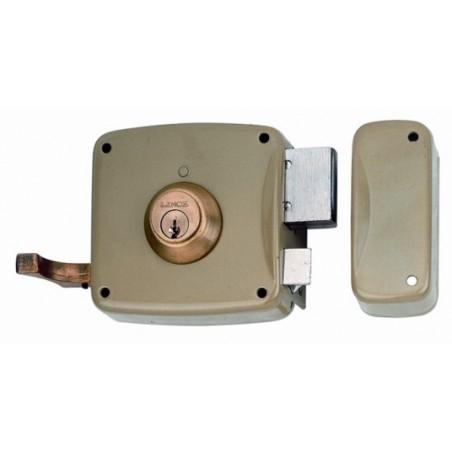 Cerradura Sobreponer 100X50Mm 5125Ahe10D Hierro Esmaltado Picaporte/Palanca Derecha Lince