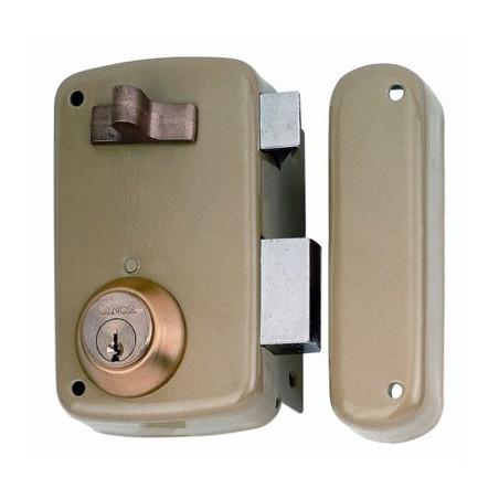 Cerradura Sobreponer 70X45Mm 5056Ahe70D Hierro Esmaltado Picaporte/Palanca Derecha Lince