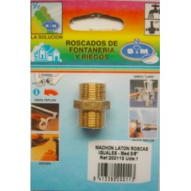 "Contrarrosca Fontaneria  Roscas Iguales M-M 3/8"" Laton  S M"