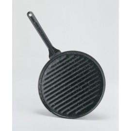 Grill Plancha 22X22Cm Rayas Con Mango Hierro Vitrificado La Ideal