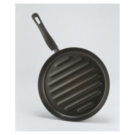 Grill Plancha 28X28Cm Rayas Con Mango Antiadh Hierro La Ideal