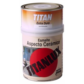 Esmalte Ceramico Brillante 750 Ml Blanco Interior Titan