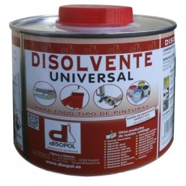 Disolvente Limpieza  Universal  Envase Metalico Nitro Disopol 500 Ml