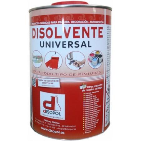Disolvente Limpieza  Universal  Envase Metalico Nitro Disopol 1 Lt