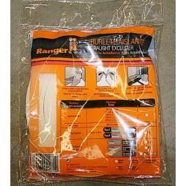 Burlete Puerta/Ventana 15Mmx10Mt Adhesivo Espuma Blanco Ranger