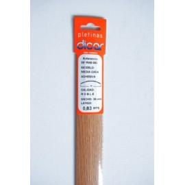Pletina Perfilada 83X3,5Mm 1/2Caña Adhesivo Inox Roble