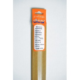 Pletina Perfilada 83X45Mm Distinto Nivel Adhesivo Inox Roble