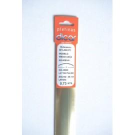 Pletina Perfilada 73X3,5Mm 1/2Caña Adhesivo Inox Laton