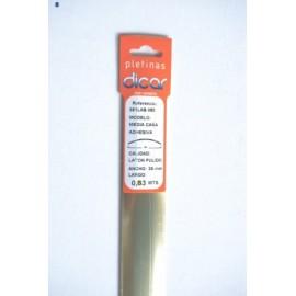Pletina Perfilada 83X3,5Mm 1/2Caña Adhesivo Inox Laton