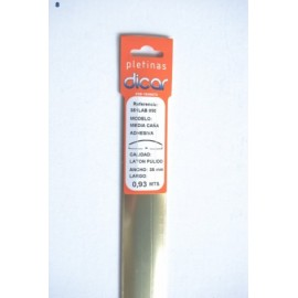 Pletina Perfilada 93X3,5Mm 1/2Caña Adhesivo Inox Laton